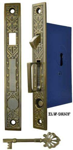 antique pocket door mortise lock set reproductionzlw