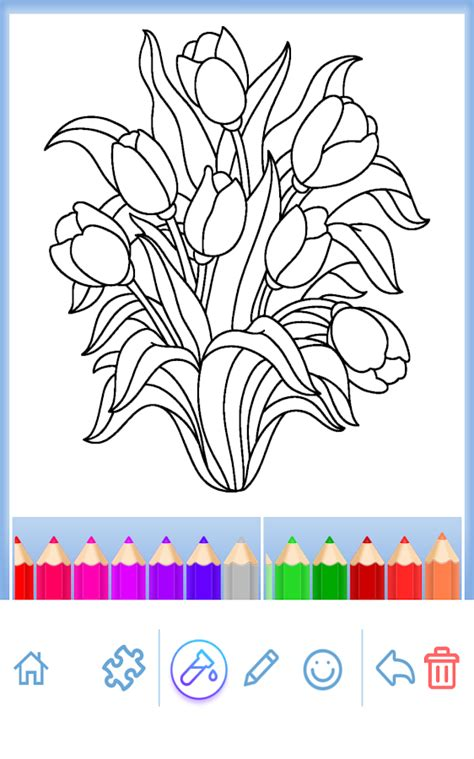 adult coloring flowers android apps  google play