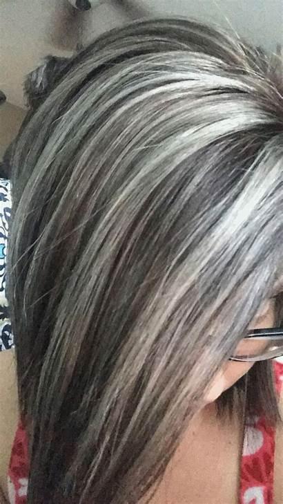 Gray Brown Ash Grey Blonde Highlights Warm
