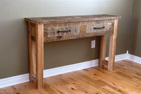 custom reclaimed wood console table  carpentercraig custommadecom