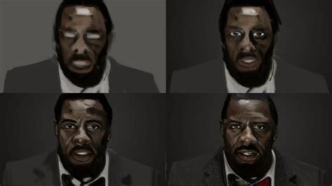 Jon Stewart: Idris Elba speed paint
