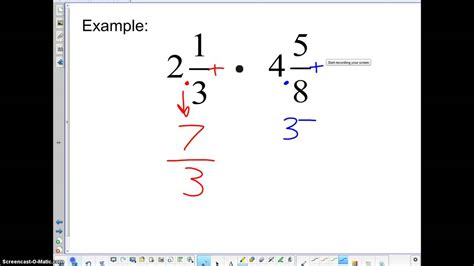tbms  grade math   multiplying mixed fractions youtube