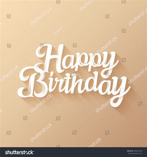 happy birthday beautiful  lettering design stock vector