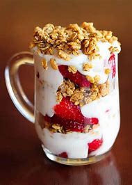 Strawberry Fruit and Yogurt Parfait