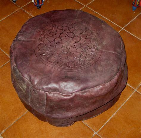 Maroc Ottoman by Moroccan Pouf Ottoman Moroccan Leather Pouf Moroccan