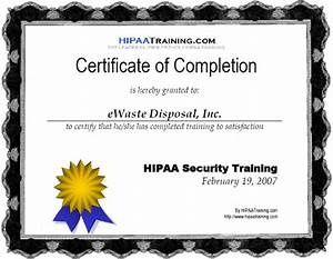 compliance standards full environmental compliance With hipaa training certificate template