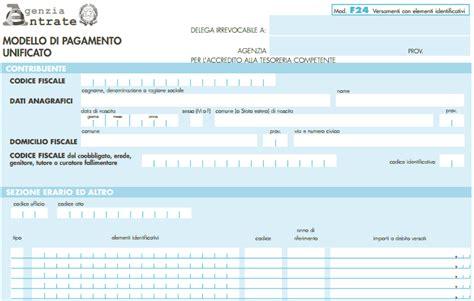Ufficio Delle Entrate Bollo by F24 Editabile Come Compilare Il Modulo Per L Agenzia