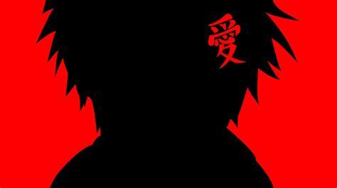 Silhouette Vector Naruto Shippuden Gaara Red Background