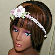 Crochet Hair Band with Flower