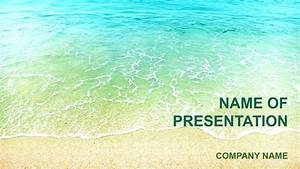 beach colors powerpoint template background for presentation With beach themed powerpoint templates