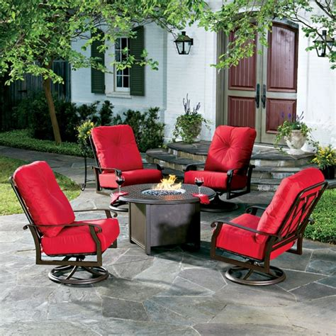 woodard cortland cushion pit chat set wd cortland set3
