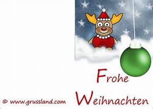 Weihnachtskarten Mit Foto Kostenlos Ausdrucken : weihnachtselch im schnee mit gr ner baumkugel ~ Haus.voiturepedia.club Haus und Dekorationen