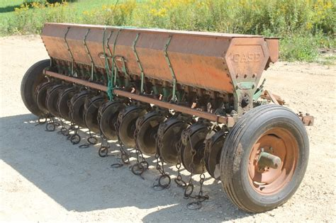 case ft grain drill  double disk openers spencer sales
