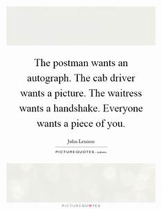 The postman wan... Taxi Driver Love Quotes