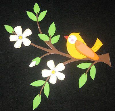 Fensterdeko Weihnachten Zweige by Fensterbild Aus Tonkarton Quot Vogel Auf Zweig Orange Quot Basteln