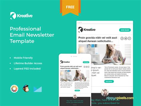 Email Brochure Template 9 Free Responsive E Mail Templates Egrappler