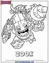 Skylanders Coloring Pages Trigger Happy sketch template