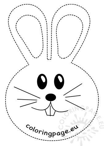 easter rabbit tracing worksheet printable coloring page