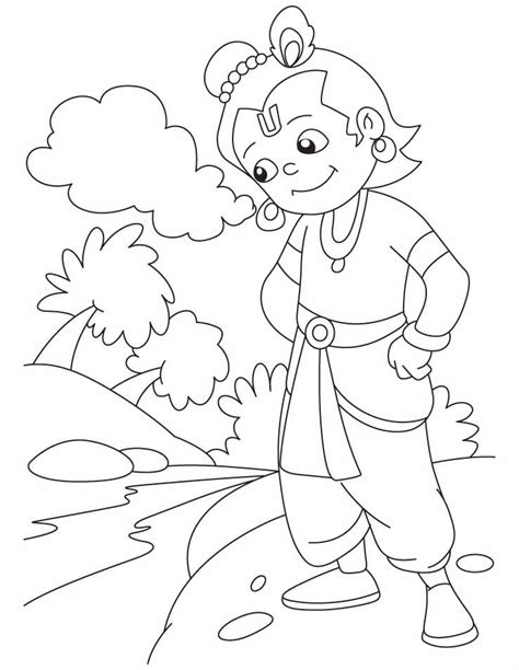 hindu god krishna coloring pages projects
