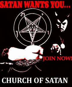 Early Church Of Satan poster.