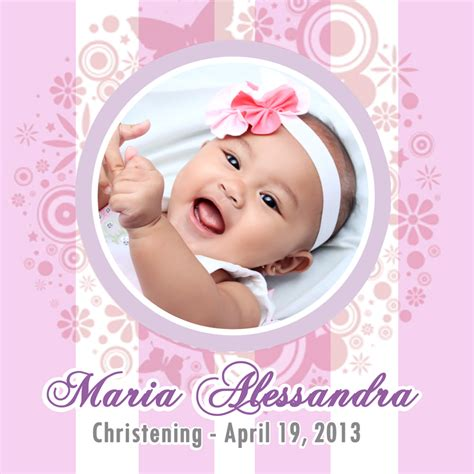 Christening Tarpaulin Design Template