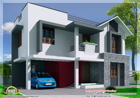 style modern mix bedroom house kerala home design floor plans house plans 19564