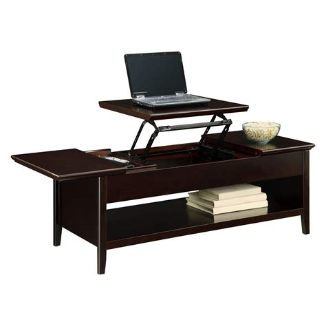 espresso coffee table espresso lift top coffee table for laptop table design with single book shelf also dark paint