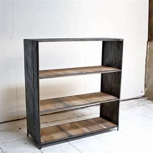 Meuble Bois Fer : meuble en fer design ~ Melissatoandfro.com Idées de Décoration
