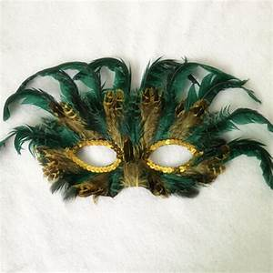 Feather Masks Mardi Gras 5 Assorted Masquerade Party ...
