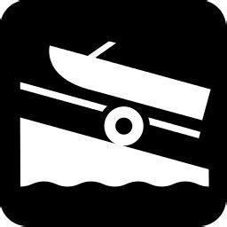 Boat Launch Icon by Boat Launch Icon Recreation Boating Boating 2 Boat