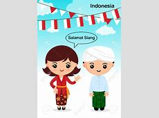 Traditional Costume clipart indonesian Pencil and in