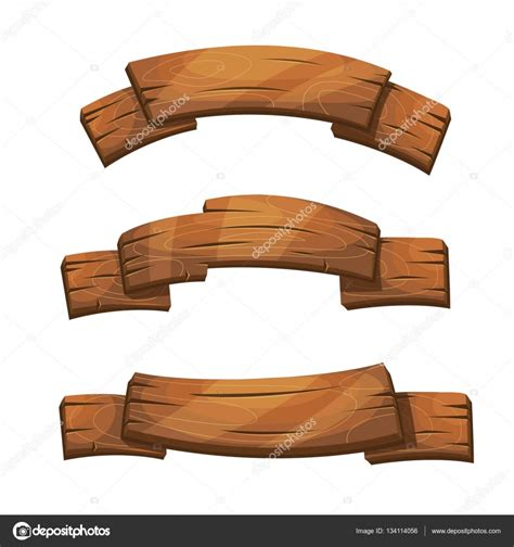 comic wooden banners  signs stock vector  mssa