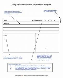 templates on pinterest With marzano vocabulary template