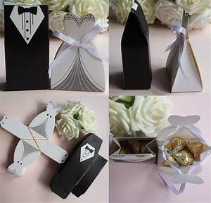 50pc tuxedo dress w ribbon groom bridal wedding party With party favors for weddings
