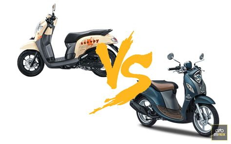 Review Honda Scoopy 2019 by Honda Scoopy Vs Yamaha Fino Indonesia Review 2019 Otofreak
