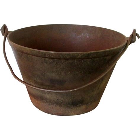 cast iron cooking cast iron cooking kettle or pail from drury on ruby lane