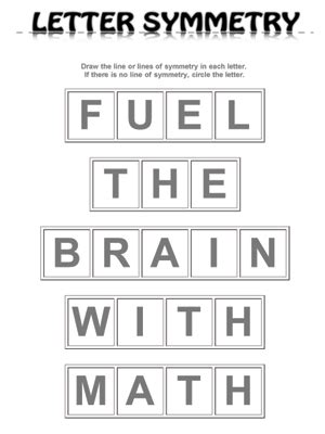 which letter has rotational symmetry letter symmetry fuel the brain 40709