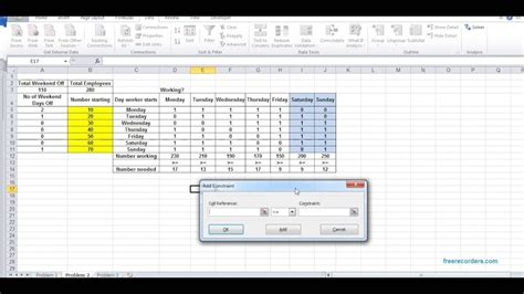 dss manpower planning    excel solver tool youtube