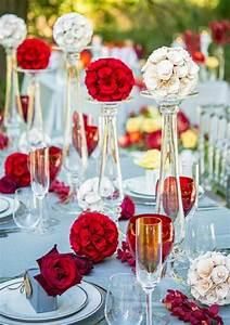Tischdeko Rot Weiß : gl ser deko blumen rot wei hochzeitdeko sommer wedding ideas tischdekoration hochzeit ~ Watch28wear.com Haus und Dekorationen