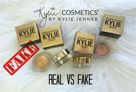 real  fake  creme eyeshadow copperrose gold kylie cosmetics birthday edition youtube