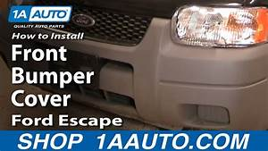 How To Install Replace Front Bumper Cover Ford Escape 01