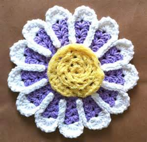 Free Crochet Flower Dishcloth Pattern