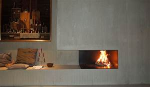 Offener Kamin Modern : offener kamin mit beton kaminmodern ofenmodern fireplace offener kamin ~ Buech-reservation.com Haus und Dekorationen