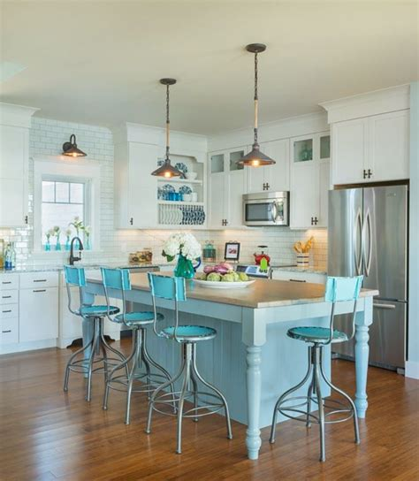 turquoise kitchen island 18 brilliant kitchen bar stools that add a serious pop of color