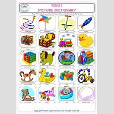 Toys Picture Dictionary Word To Learn Unscramble The Words And Write