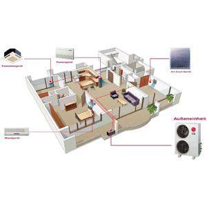 Mehrere Räume by Aer Conditionat Haier 12000 Btu As12ta2hra