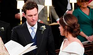 Jack Brooksbank tears up as he sees bride Princess Eugenie ...