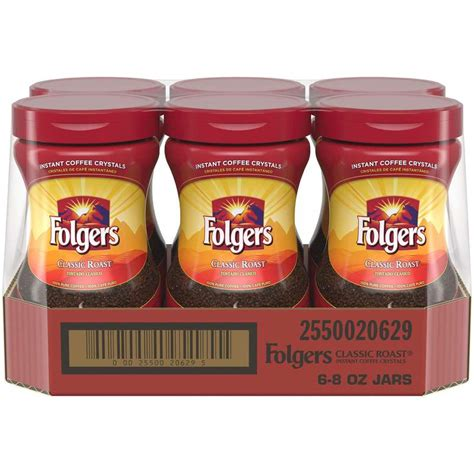 Make your morning instantly better with folgers instant coffee crystals. Folgers Classic Roast Instant Coffee Crystals, 8 Ounces - Coffee Wholesale USA