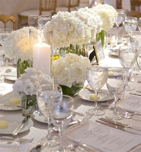 table centerpieces using photos charming wedding table decoration with various white