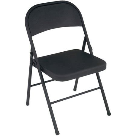 Black Metal Folding Chairs Walmart by Cosco Steel Folding Chair Set Of 4 Walmart